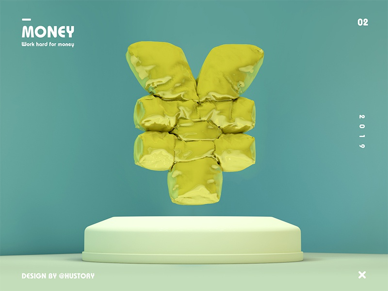 Money ¥ clean c4d design