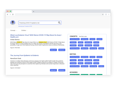 CovidScholar Search Engine uidesign dribbble app ux adobe xd dailyui interface design ux design ui design