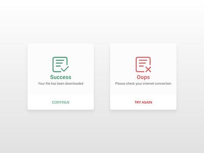 Just finished my #dailyui#011 Flash Message (Error/Success) interface design icon logo uidesign dribbble dailyui illustration ux design app ui design