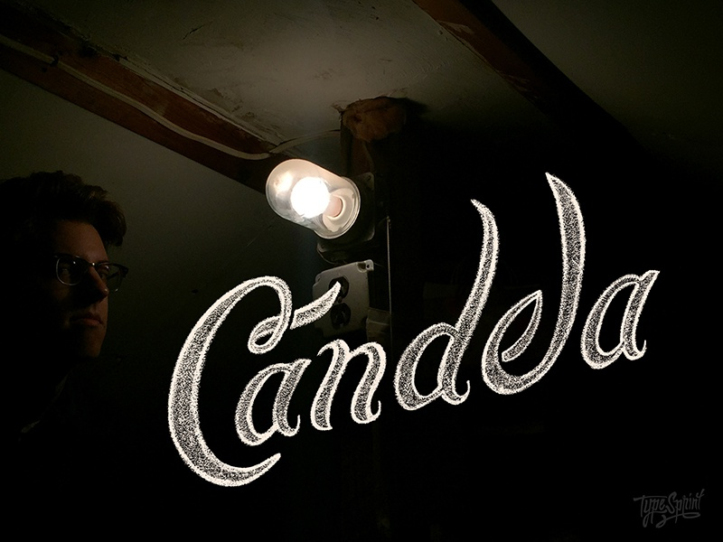 Candela design lettering chalk type typography hand drawn hand lettered ithaca upstate new york photography typesprint
