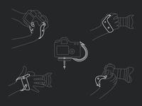 Camera Line Illustrations