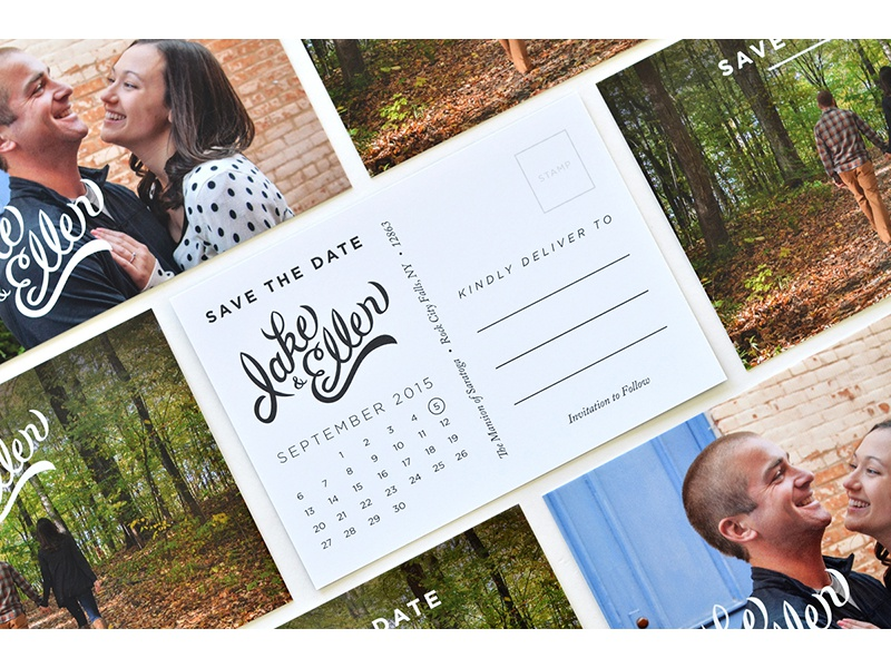 Save the Date typesprint design lettering photography save the date wedding invite print post card type typography james mcdonough