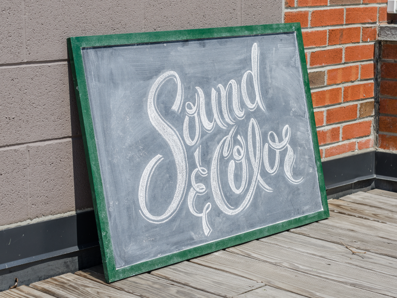 Sound & Color james mcdonough sketch chalk hand lettered lettering typography type typesprint