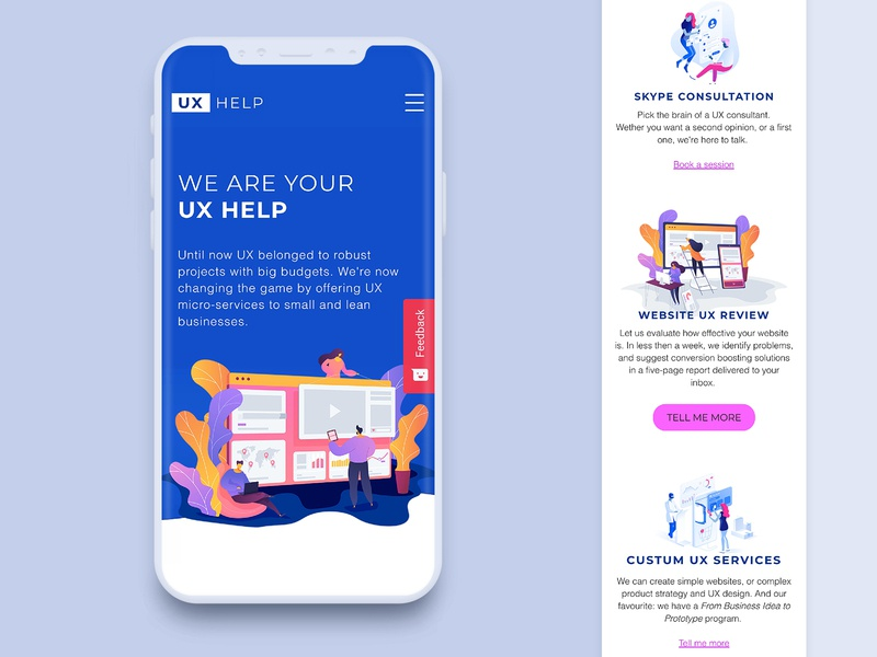 UX HELP—Website and service design