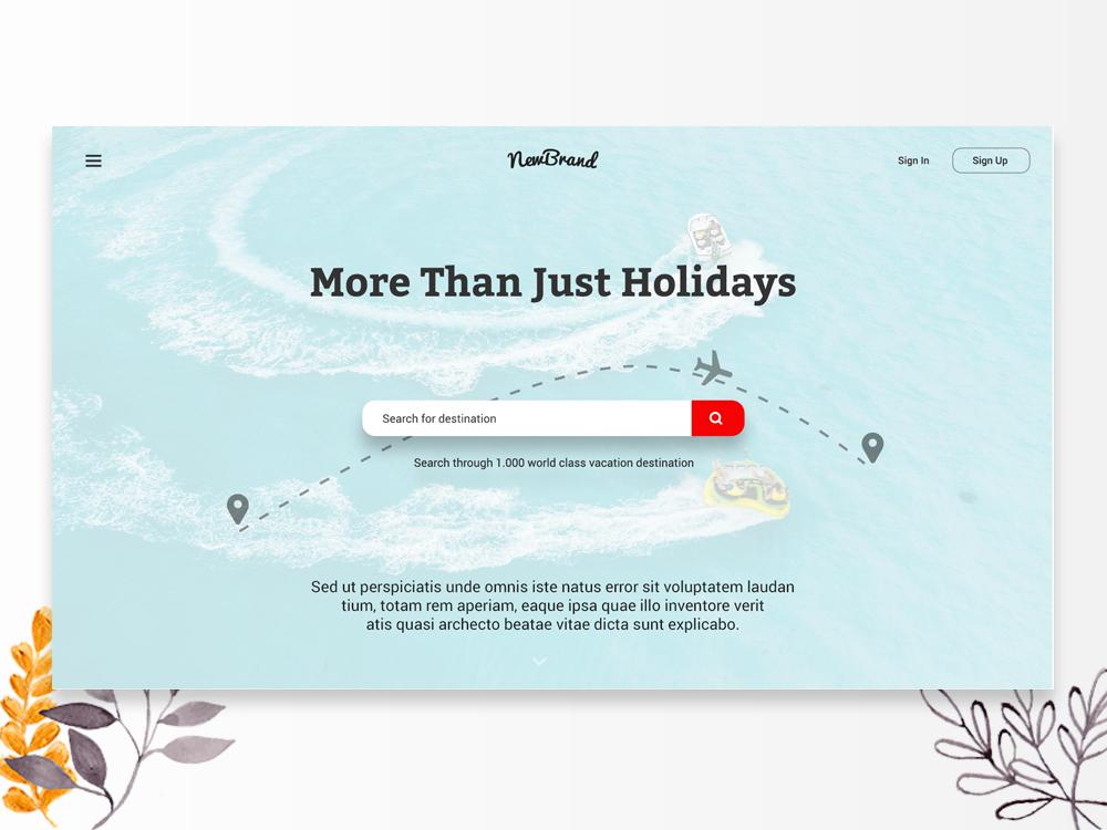 Web Header Design Vol 02 by Yogi Prasetya on Dribbble
