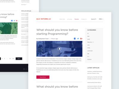 Algorithms.az Design Concept