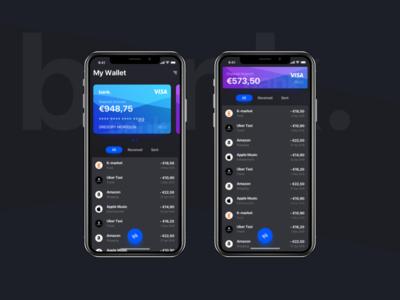 Banking App Dark version