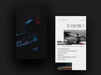 The Studio - Mobile record producer music ux design uidesign website app web typography branding landingpage landing mobile animation design uiux ux ui