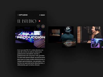 The Studio - Mobile record studio producer music website landing page landing prototype slider ui  ux uidesign uiux web branding typography ux ui animation design