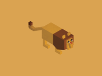 Collection of animals: lion