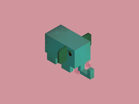 Collection of animals: elephant