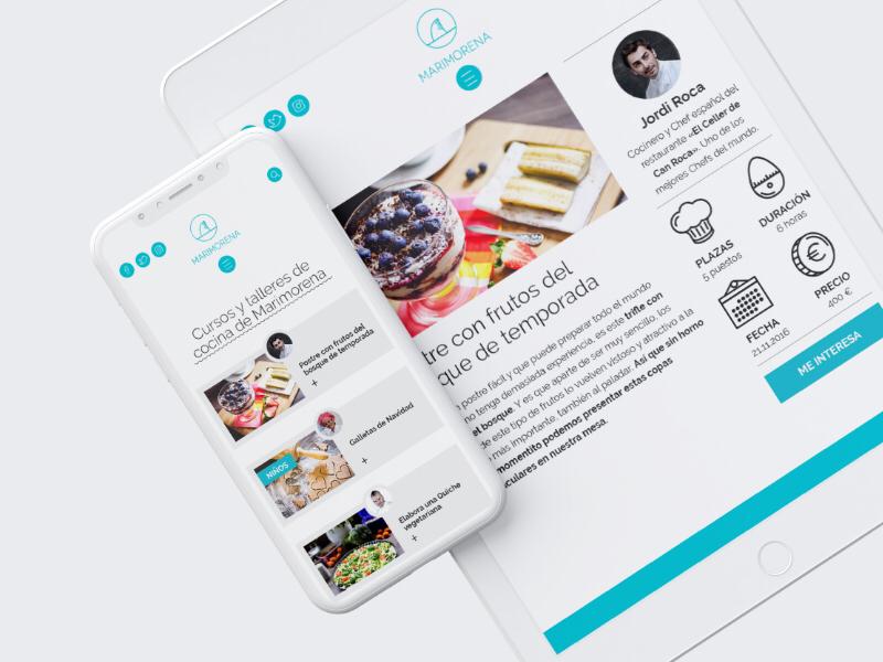Marimorena's site web ux animation ux ui site icon home food design