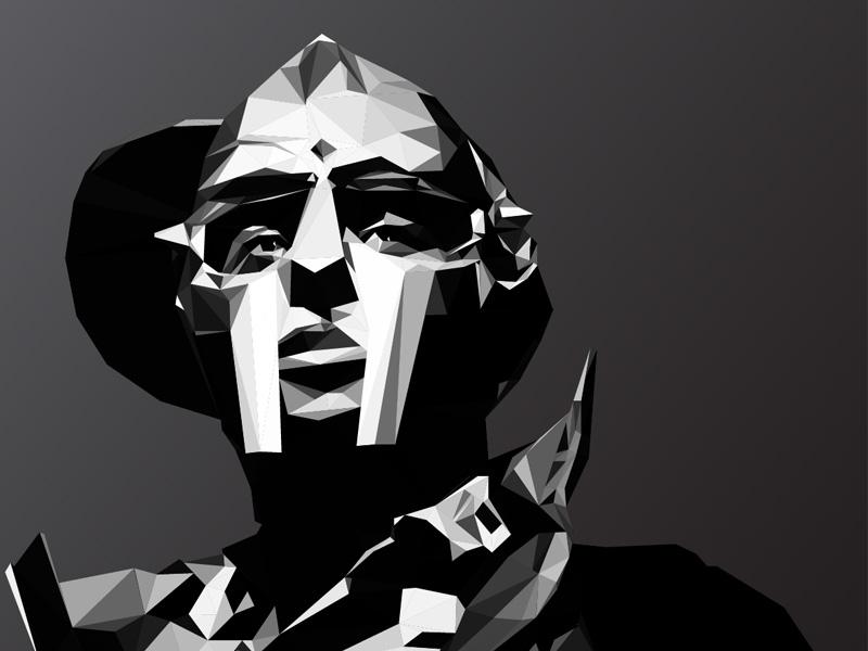 MF DOOM illustrator stylized vector mf doom doom low poly poly