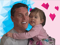 Father & Daughter Low-Poly