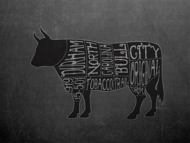 Bull City Chalkboard vector illustrator bull city durham nc north carolina adobe illustrator