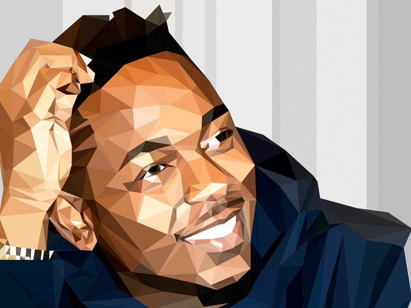 Kendrick Lamar - Low-Poly low poly tde adobe illustrator illustrator vector kdot kendrick lamar