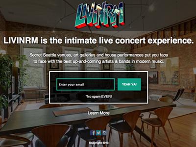 Livinrm sign up page - live! register signup forms coming soon splash fullscreen mailchimp