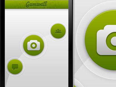App UI Idea interface light iphone app ui ux retina experiment photo camera concept mobile ios green
