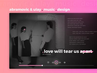Abramovic & Ulay . Music . Design