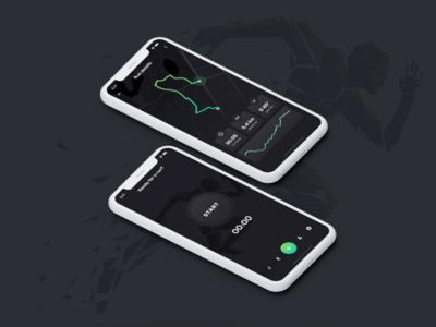 Data visualization — UI Weekly Challenge — S2 / W05 mobile ui run stats running app vizualization data app ui mobile stats running run