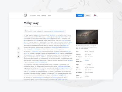 Wikipedia redesign web ui web design typography readable read whitespace redesign web encyclopedia wikipedia