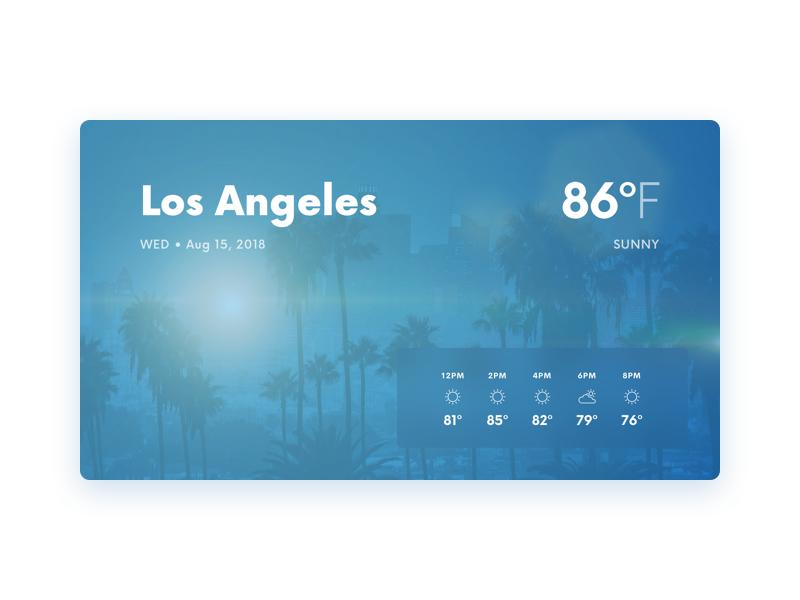 Weather – Smart Display – Los Angeles by Andrija Prelec on