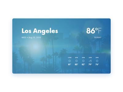 Weather – Smart Display – Los Angeles ui user interface forecast weather app smart display weather l.a. los angeles sunny