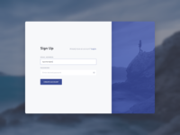 Sign Up – Daily UI Challenge #001