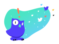 Surprised by birds in space owl (3/3)