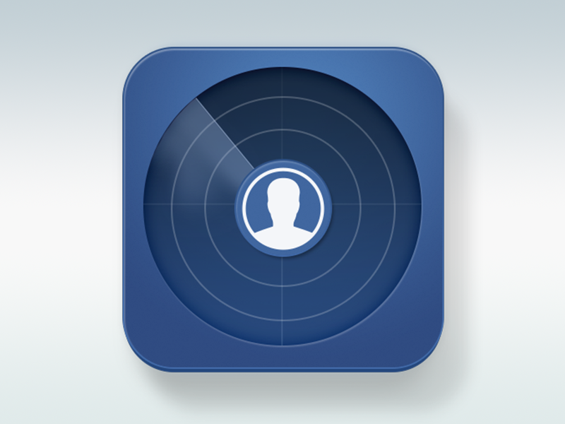 Facebook Radar Icon by Dejan Markovic on Dribbble