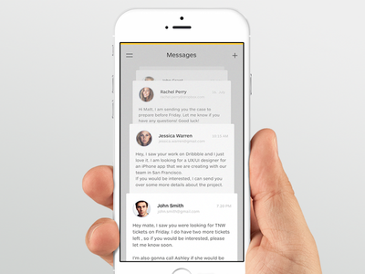 Messages messages ios mobile app talk chat message ui