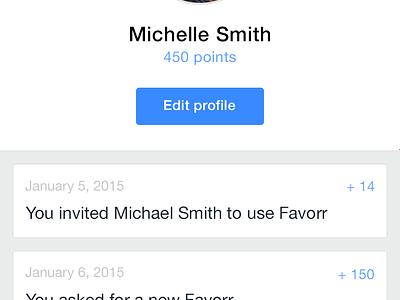 Favor Profile favor favorr profile blue timeline ios settings edit photo
