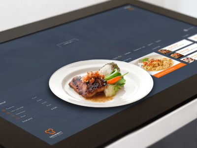 Gourmet Experience gourmet touch screen design flat tablet surface microsoft food menu