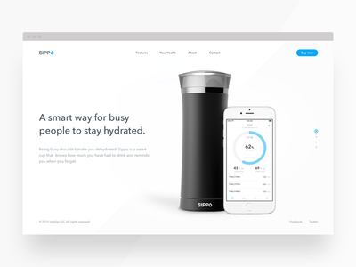 Sippo website  hydration water ios cup sippo landing page website