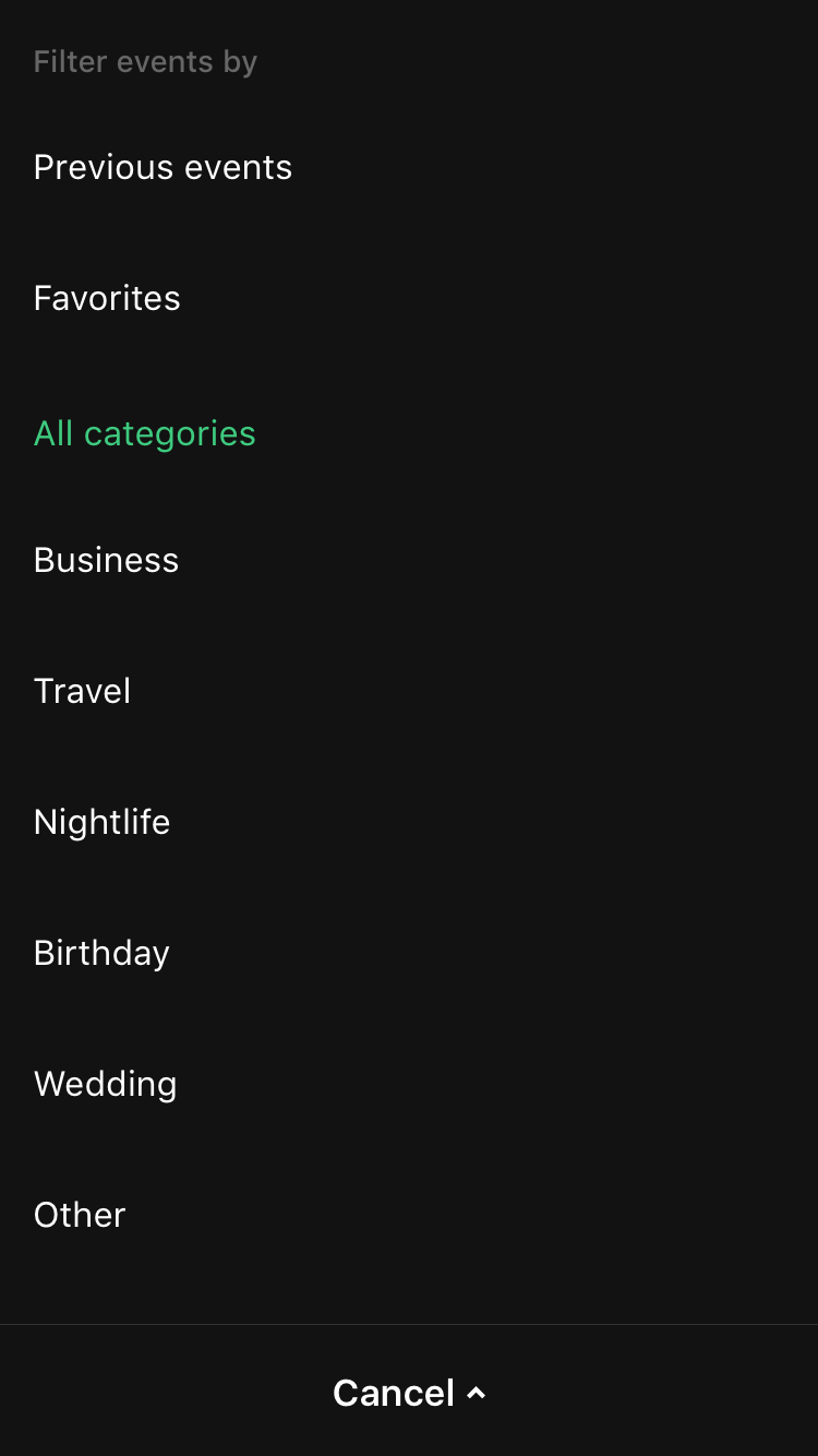 Categories   night mode