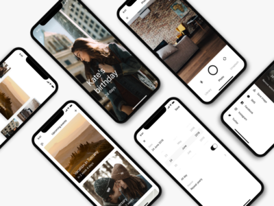 Days 2.0 camera timeline date birthday photos black iphone x app ios countdown events days