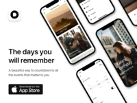 Welcome to Days 2.0 iphonex lifestyle camera events countdown interface monochrome minimal release ios days