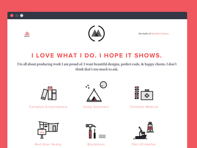 Dribbble project page