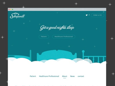 SleepWell Nova Scotia vector clouds flat icons illustration ui ux branding