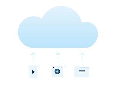 Cloud Storage Iconography icons vector cloud storage iconography video pictures files layout ui