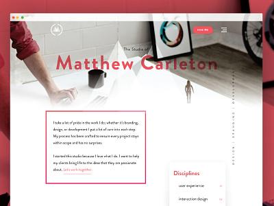 Site Redesign V3 may1reboot landing portfolio exploded grid grid branding parallax modern clean website type