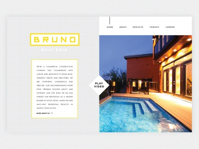 Yet another rejected design :( interior construction architect minimal website grid page landing design clean