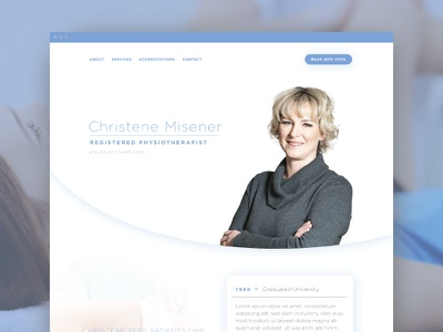 Physiotherapy website  line icons icons minimal clean ux ui one page design one page physiotherapist medical physiotherapy pyshio