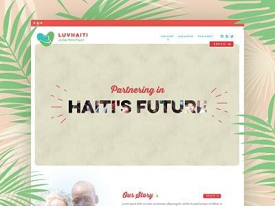 Charity non profit website design website design non-profit charity clean minimal haiti one page one pager one page design