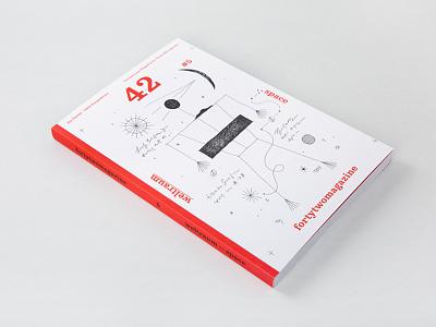 fortytwomagazine #5—space design interview designer magazine graphic design typography slanted