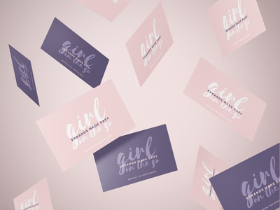 Girl On The Go Business Cards girly business cards