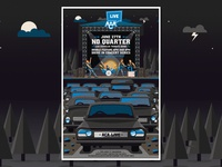 No Quarter Drive-In Concert Series Poster drivein textures illustration design