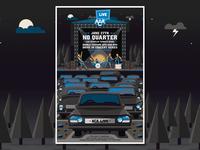 No Quarter Drive-In Concert Series Poster drivein textures illustration design