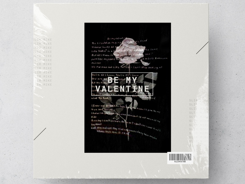 Be My Valentine Single Artwork design layout
