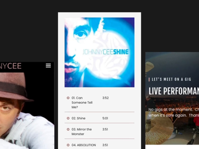 Johnny Cee music layout design website